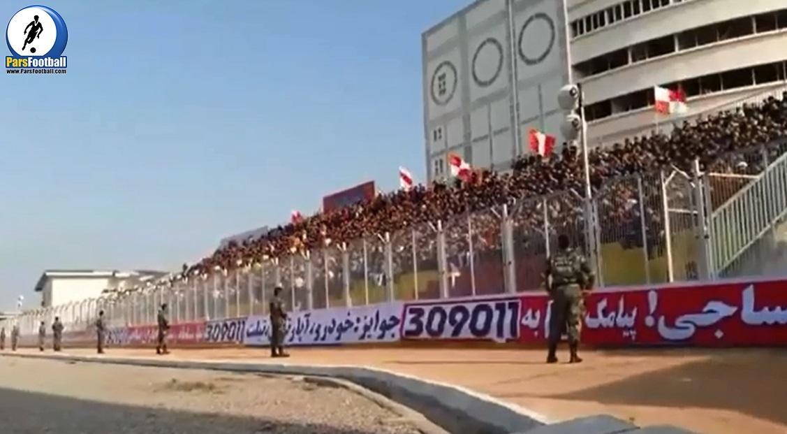 فیلم | شیوه عجیب شعار دادن هواداران تیم فوتبال نساجی مازنداران
