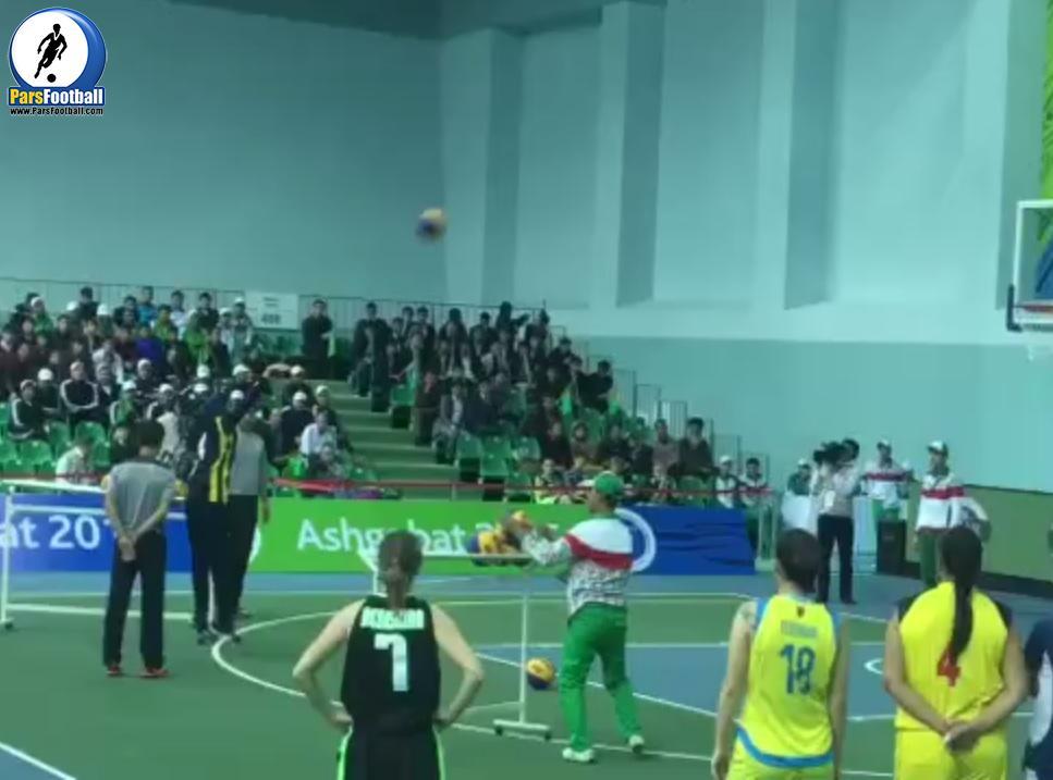 فيلم بسیار زیبا از پرتابهای زيباى سه امتیازی در بسکتبال توسط دلارام وکیلی ؛ پارس فوتبال