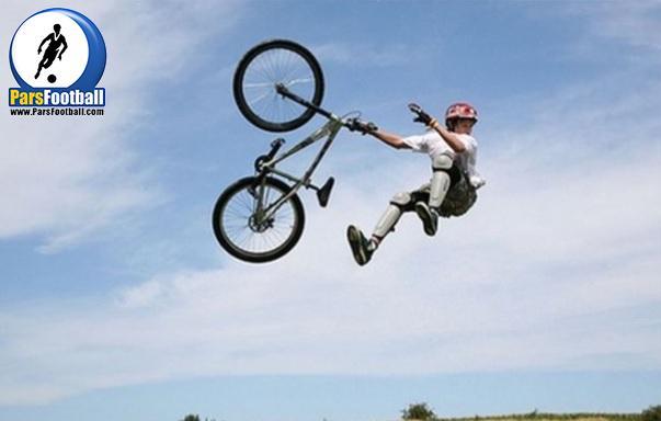 ورزش پارکور و کلیپ جالب از حرکات زیبا با دوچرخه در پیست ؛ پارس فوتبال