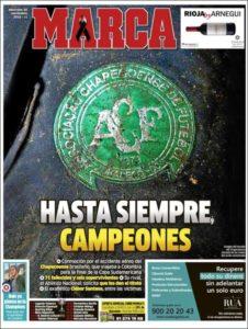 عناوین نشریهی معتبر مارکا چاپ اسپانیا در روز چهارشنبه ۳۰ نوامبر