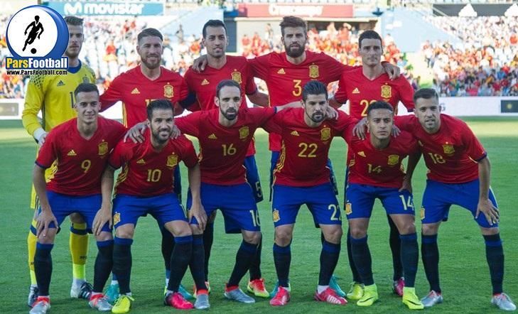 لیست تیم ملی اسپانیا
