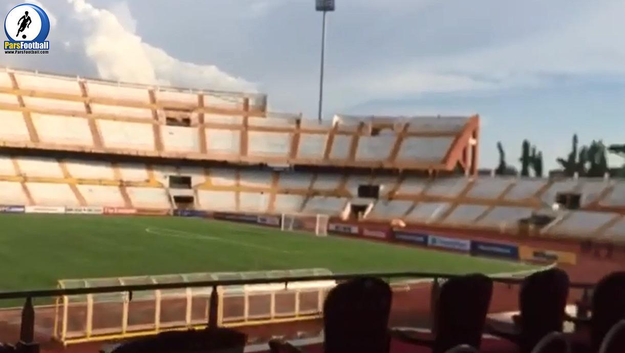 فیلم   2 ساعت مانده به آغاز بازی ایران و سوریه در ورزشگاه عبدالرحمان