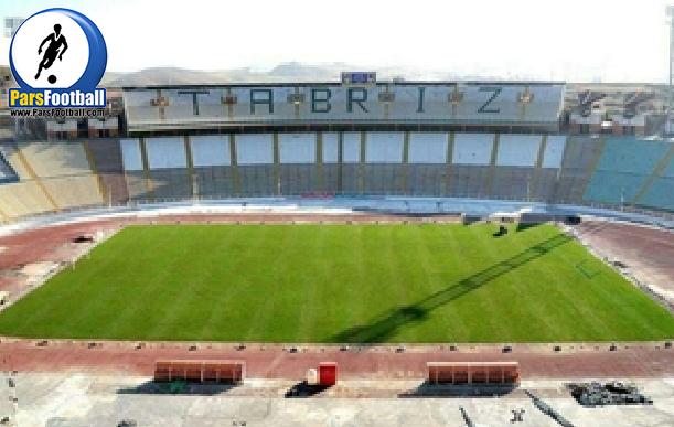 ورزشگاه یادگار امام تبریز طرح جدیدی را برای چمن این ورزشگاه در نظر گرفتند