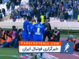 گل اول استقلال تهران به تراکتورسازی