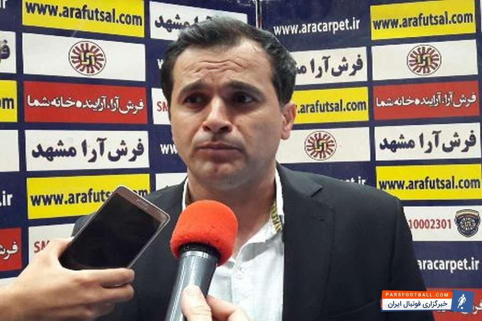 مرتضایی : امیدواریم بتوانیم امتیازات از دست رفته را در بازی های آینده جبران کنیم