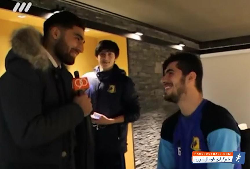 فیلم ؛ کلیپ مصاحبه جالب سردار آزمون و سعید عزت الهی ؛ پارس فوتبال
