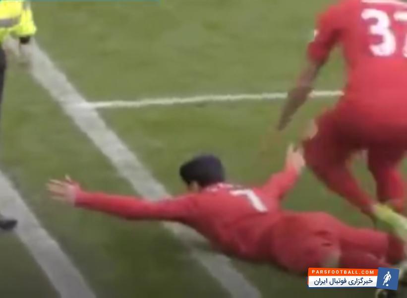 فیلم ؛ کلیپ شادی عجیب بعد از گل بازیکنان لیورپول در دربی مرسی ساید ؛ پارس فوتبال