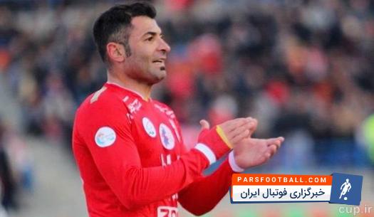 بازوبند کاپیتانی تراکتورسازی بر بازوی محمد ابراهیمی | خبرگزاری فوتبال ایران