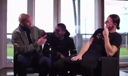 کلیپی از مصاحبه متفاوت و جالب تیری آنری با زلاتان ابراهیموویچ و پل پوگبا