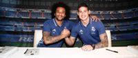 عکس و امضا خامس و مارسلو با هواداران رئال مادرید