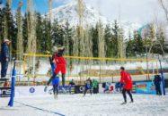 والیبال در برف