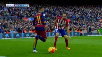 عملکرد نیمار ستاره تیم بارسلونا در مقابل تیم اتلتیکو مادرید