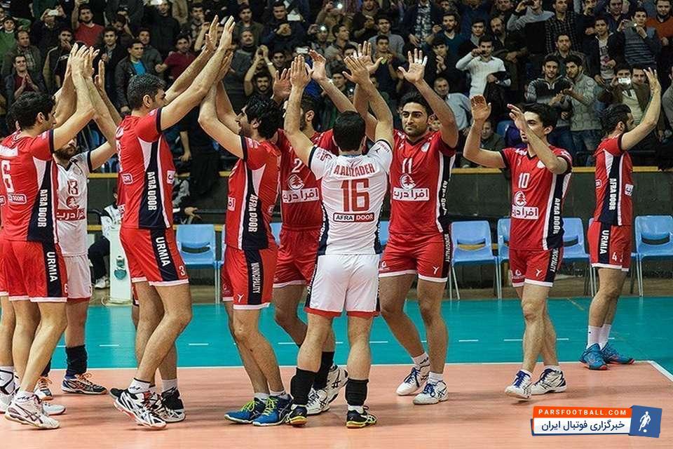 لیگ برتر والیبال شهرداری ارومیه 3–0 پیکان تهران تکلیف تیم فینالیست به بازی سوم کشیده شد