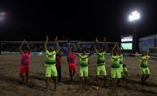 خلاصه فوتبال ساحلی تیم های گلساپوش یزد و اسپورتینگ پرتغال