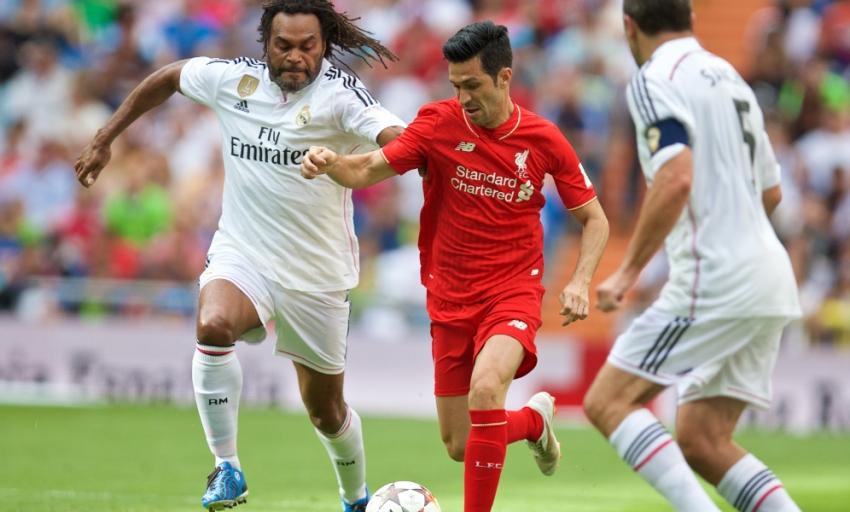 کلیپی از خلاصه بازی تیم های ستاره های رئال مادرید و ستاره های لیورپول ؛ پارس فوتبال