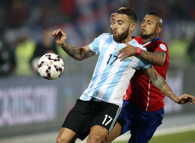 عملکرد اوتامندی بازیکن آرژانتین در دیدار برابر شیلی ؛ پارس فوتبال اولین خبر گزاری فوتبال ایران