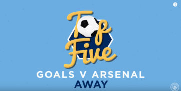 5 گل برتر بیرون از خانه باشگاه منچسترسیتی به آرسنال