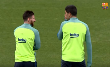 تمرینات بارسلونا پیش از دیدار با سلتاویگو