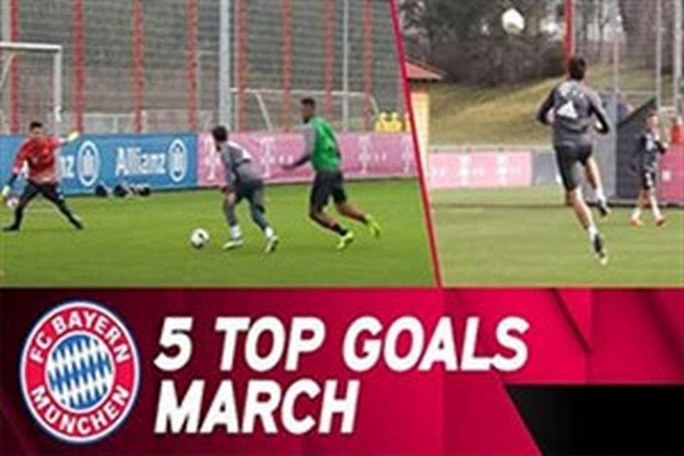 بایرن مونیخ کلیپی جالب از 5 گل برتر در تمرینات ماه مارس 2017