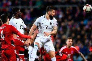 عملکرد ژیرو بازیکن فرانسه در دیدار برابر لوگزامبورگ