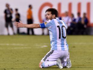 عملکرد مسی بازیکن آرژانتین در دیدار برابر شیلی