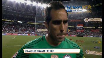 عملکرد براوو بازیکن شیلی در دیدار برابر آرژانتین