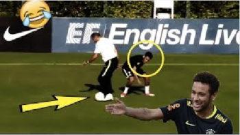 وقتی که نیمار در تمرینات تیم برزیل موفق نمی شود سرمربی را دریبل بزند