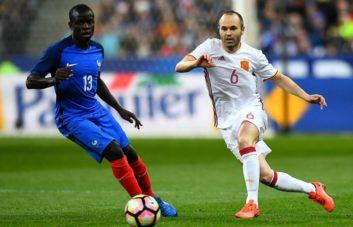 عملکرد کانته بازیکن فرانسه در دیدار برابر اسپانیا