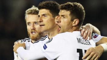 عملکرد مولر بازیکن آلمان در دیدار برابر آذربایجان