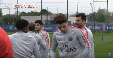 تمرینات امروز تیم فوتبال پاریس سن ژرمن