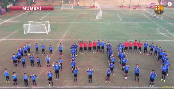 تبریک بازیکنان آکادمی بارسلونا در سراسر جهان به مسی برای 500 گله شدن