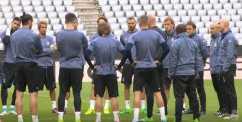 تمرینات تیم فوتبال رئال مادرید پیش از دیدار برابر بایرن مونیخ