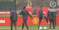 تمرینات تیم فوتبال منچستریونایتد قبل از دیدار برابر اندرلخت