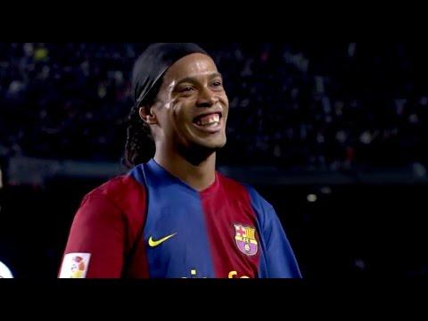 عملکرد رونالدینیو بازیکن اسطوره های بارسلونا در دیدار برابر اسطوره های رئال مادرید