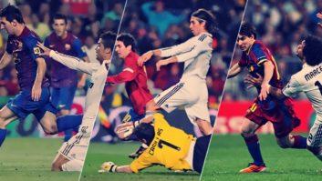 10 گل برتر مسی برای بارسلونا در الکلاسیکو
