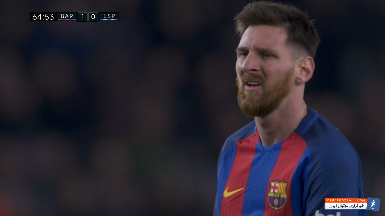 عملکرد مسی بازیکن بارسلونا در دیدار برابر اسپانیول ؛ پارس فوتبال اولین خبرگزاری فوتبال ایران