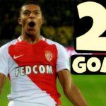 21 گل امباپه برای موناکو در فصل 2016/2017