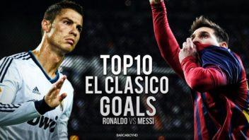10 گل برتر مسی در برابر 10 گل برتر رونالدو در ال کلاسیکو