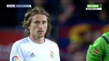 عملکرد مودریچ بازیکن رئال مادرید در دیدار برابر بارسلونا