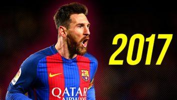 مهارت های دریبل زنی و فرار ستاره بارسلونا مسی 2017
