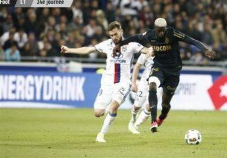 پیروزی موناکو مقابل لیون در هفته سی و چهارم لیگ لوشامپیونه
