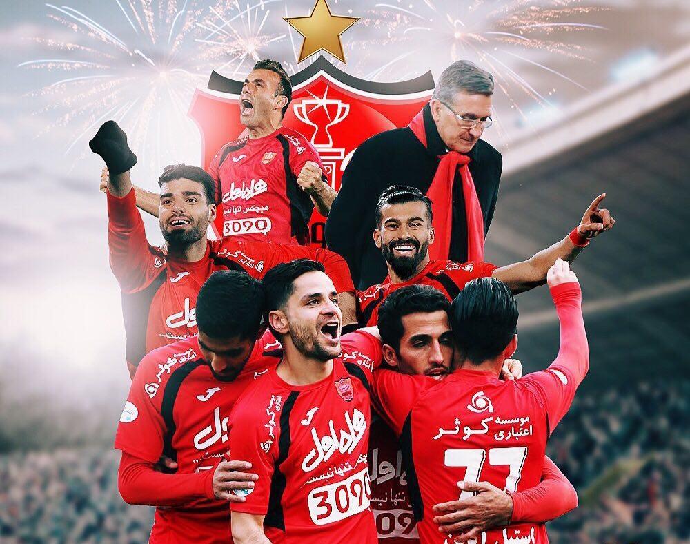فیلم ؛ جشن قهرمانی پرسپولیس با صدای زندهیاد فرزین ؛ پارس فوتبال