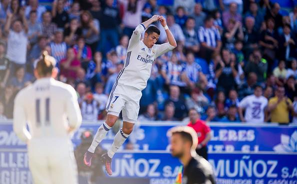 فیلم ؛ هتریک کریستیانو رونالدو مقابل آلاوز با پیراهن رئال مادرید ؛ پارس فوتبال