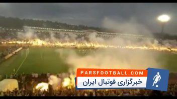 کلیپی از جشن قهرمانی هواداران تیم فوتبال پارتیزان بلگراد پس از قهرمانی در سوپرلیگ صربستان