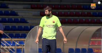 تمرینات امروز تیم فوتبال بارسلونا