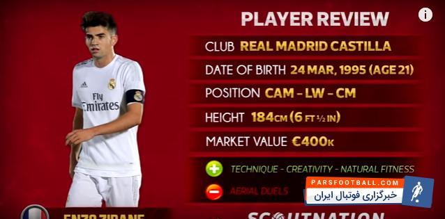 مهارت های انزو زیدان در رئال مادرید 2016/2017؛ پارس فوتبال اولین خبرگزاری فوتبال ایران