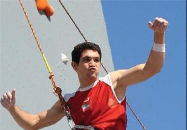 رضا علیپور در صدر رنکینگ بخش سرعت سنگنوردی جهان ؛ رکورد استثنایی سنگنورد ایرانی