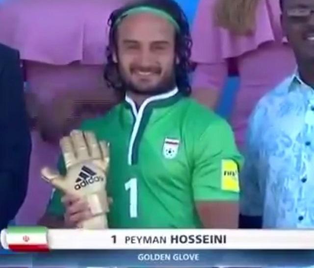 انتخاب محمد احمدزاده و پیمان حسینی به عنوان بهترین بازیکن و بهترین دروازه بان جام جهانی 2017 باهاما