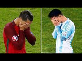 همه پنالتی های خراب شده مسی و رونالدو