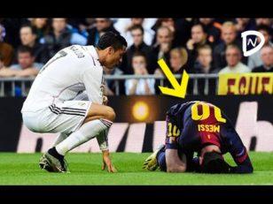 لحظات احساسی مسی و رونالدو در فوتبال